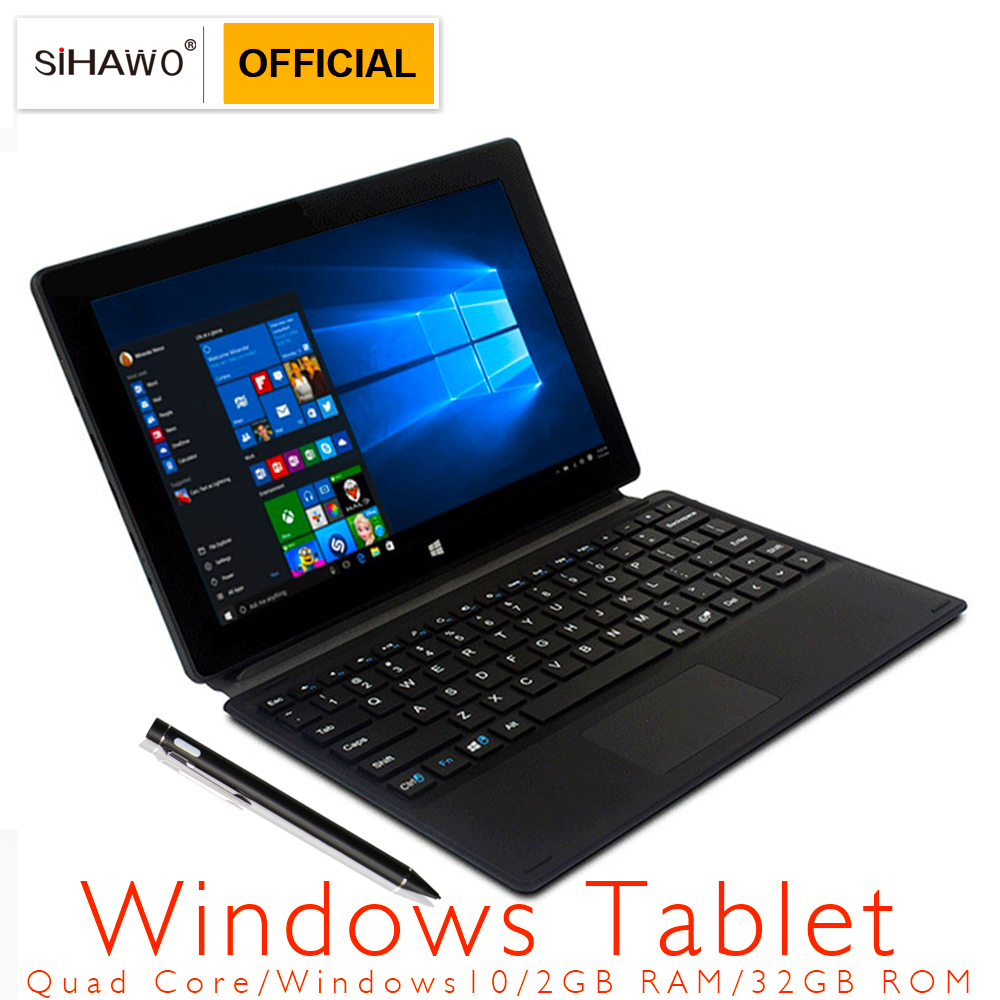 New 10.1inch Tablet PC Intel Bay Trail Z3735F Quad Core 1280P IPS Windows 10 2GB RAM 32GB ROM Type-C OTG Bluetooth 2 In 1 Tablet