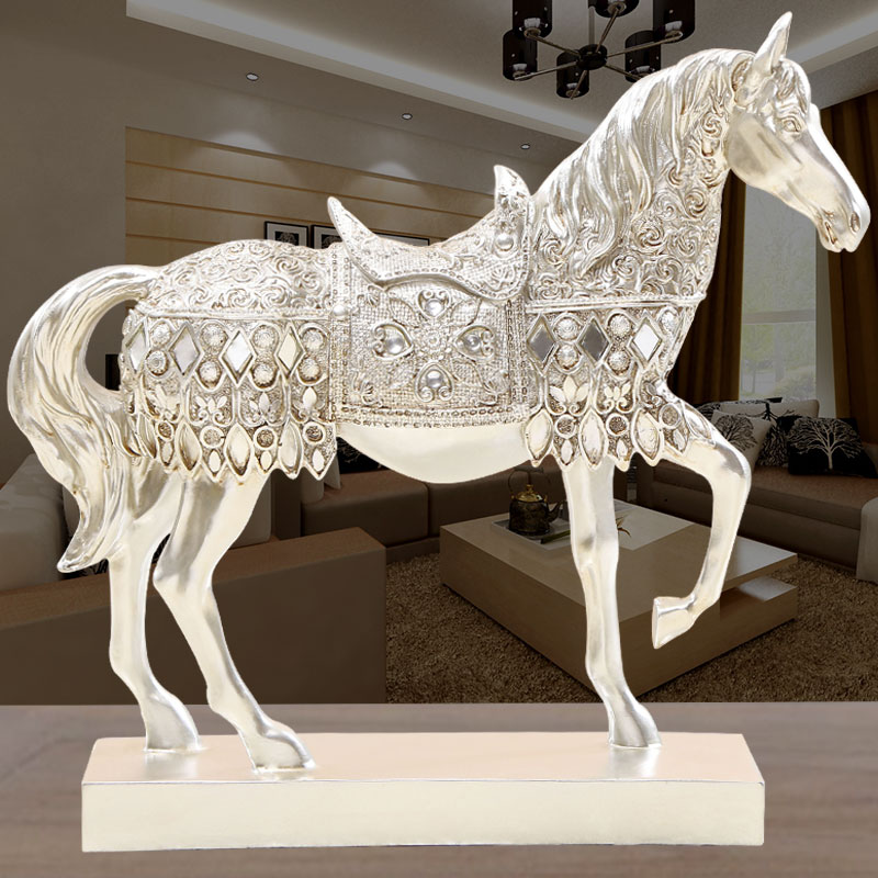Home Decor Vendors: Aliexpress.com : Buy 37x30cm Golden &Silver Horse TV Cabinet Modern Style Living Room Decoration