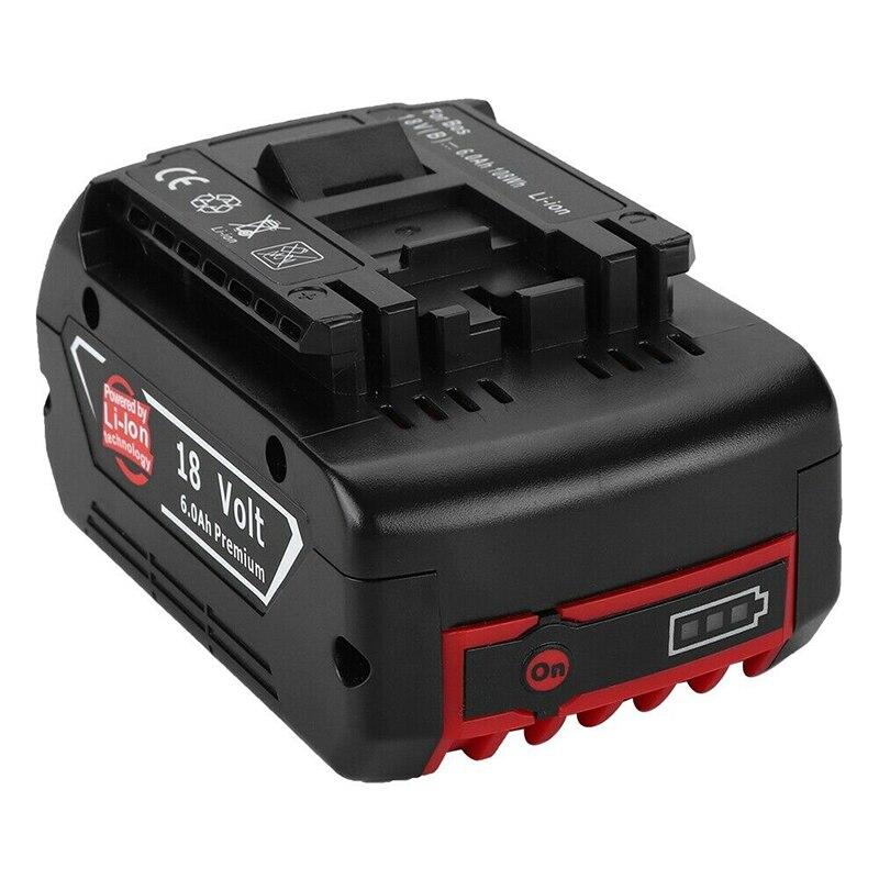Batterie Rechargeable Li-ion 18V 6000mah pour batterie de secours Bosch 18V 6.0A remplacement Portable pour voyant lumineux Bosch BAT609
