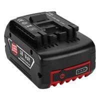 18В 6000 мАч литий-ионная аккумуляторная батарея для Bosch 18В батарея резервного копирования 6.0A портативная Замена для Bosch BAT609 Световой индикато...