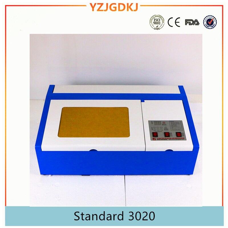 Бесплатная доставка 3020 co2 лазерная гравировка машины лазерной резки для rexine фанеры, акрил, штамп, ткань фетр