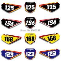 NICECNC Custom Number Plate Background Graphics Sticker & Decal For Suzuki RM85 2002 2015 2004 2006 2008 2010 2012 2014 RM 85