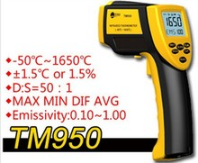 Best Buy New 2014 Non-contact termometer TM950 infrared thermometer High temperature thermometer -50C-1650C Digital infrared thermometer