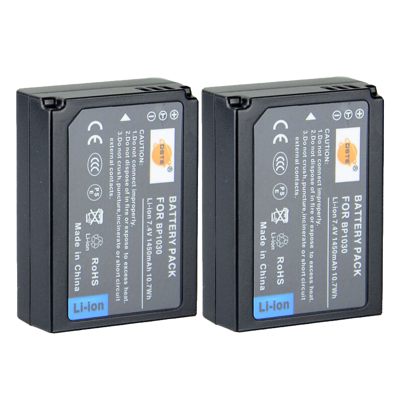 DSTE 2PCS BP1030 BP-1030 Rechargeable <font><b>Battery</b></font> for <font><b>Samsung</b></font> NX200 NX300 NX1000 NX210 NX2000 NX300M <font><b>NX1100</b></font> NX500 Camera image