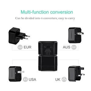 Image 2 - Adaptador de toma Universal para viaje, convertidor de enchufe para el hogar, 3 enchufes de toma, enchufe para EE. UU./AU/EU/UK
