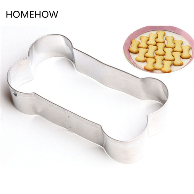 1PC Cute Bone Cookies Cutter Stainless Steel <font><b>Inox</b></font> <font><b>Kitchen</b></font> Accessory House Baking Bone Shape Biscuit Cookie Cake Decorating <font><b>Tool</b></font> image