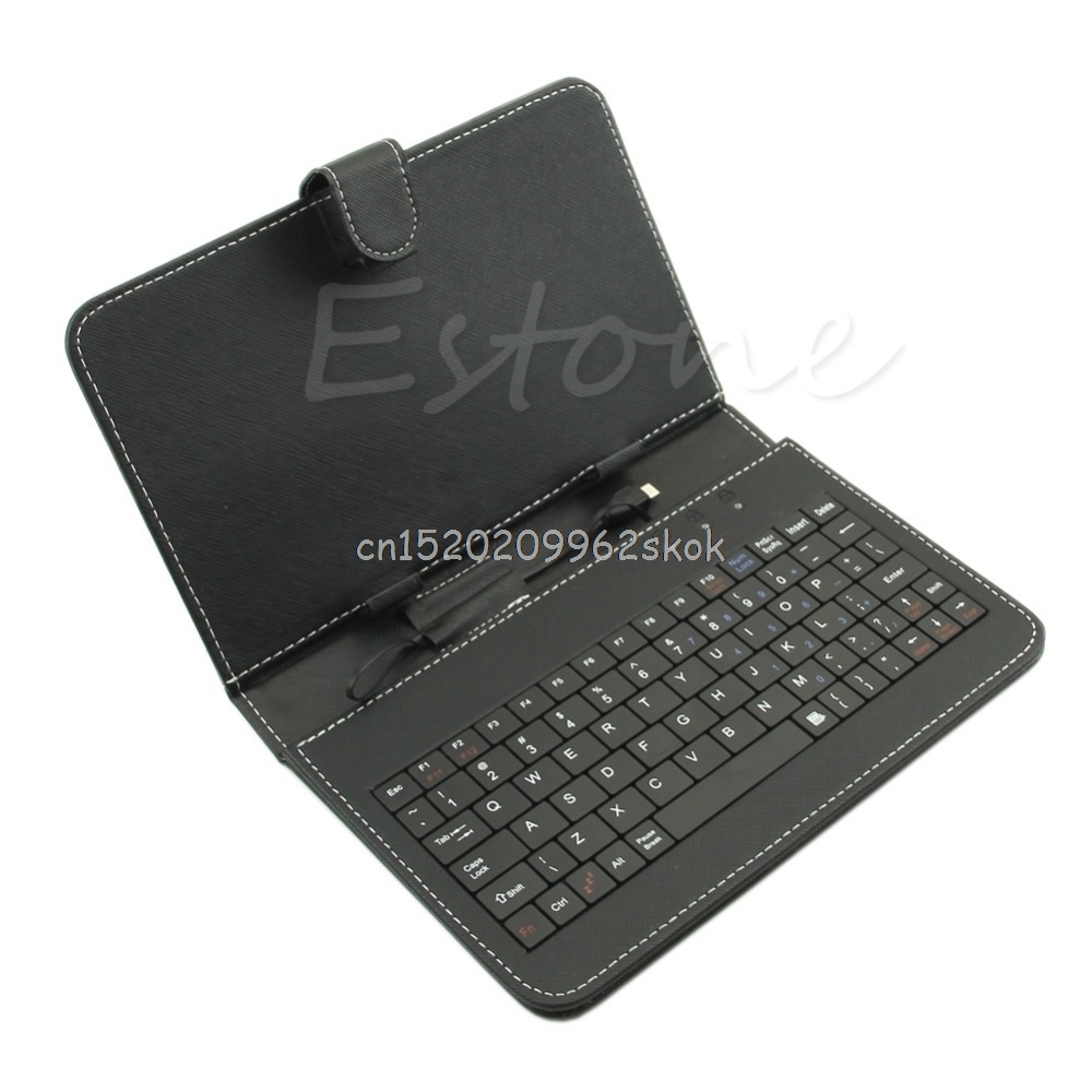 Universal USB Keyboard PU Leather Folio Case Cover For Android Tablet 10.1 #H029# universal wired usb keyboard for windows xp window 7 and above androids 3 0 and above keyboard skin cover new arrival