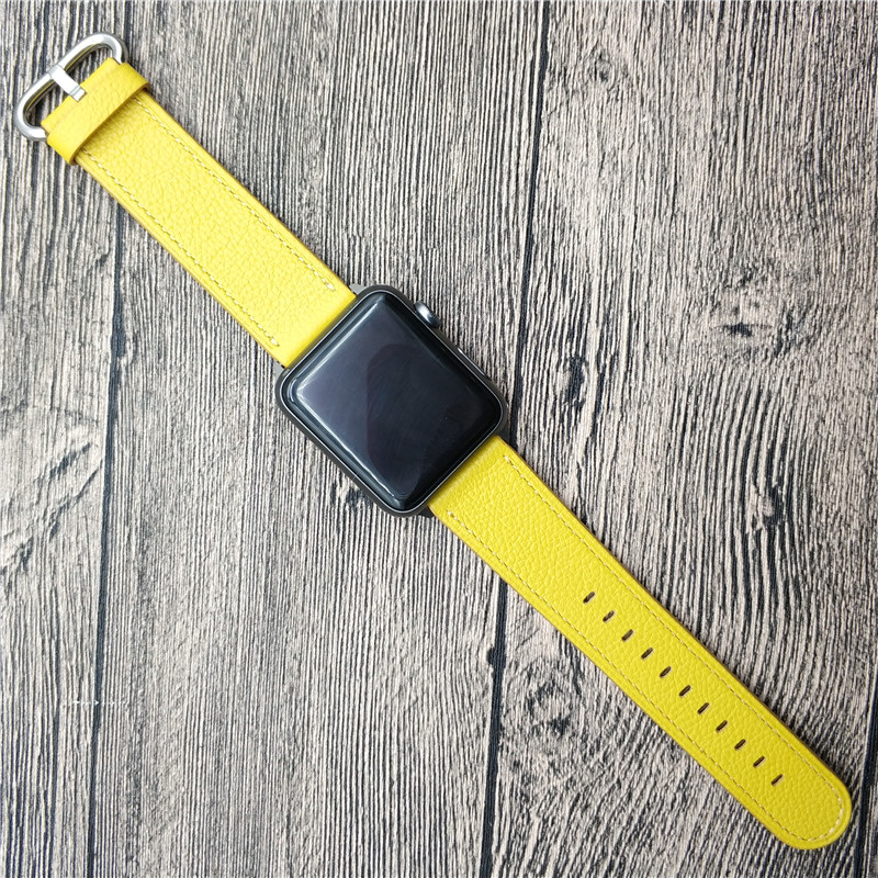 Wrist Band For Apple Series 4 iWatch Original Leather Band Colorful Watch Bracelet For Apple Series 1 2 3 Watch Strap WatchbandsWrist Band For Apple Series 4 iWatch Original Leather Band Colorful Watch Bracelet For Apple Series 1 2 3 Watch Strap Watchbands