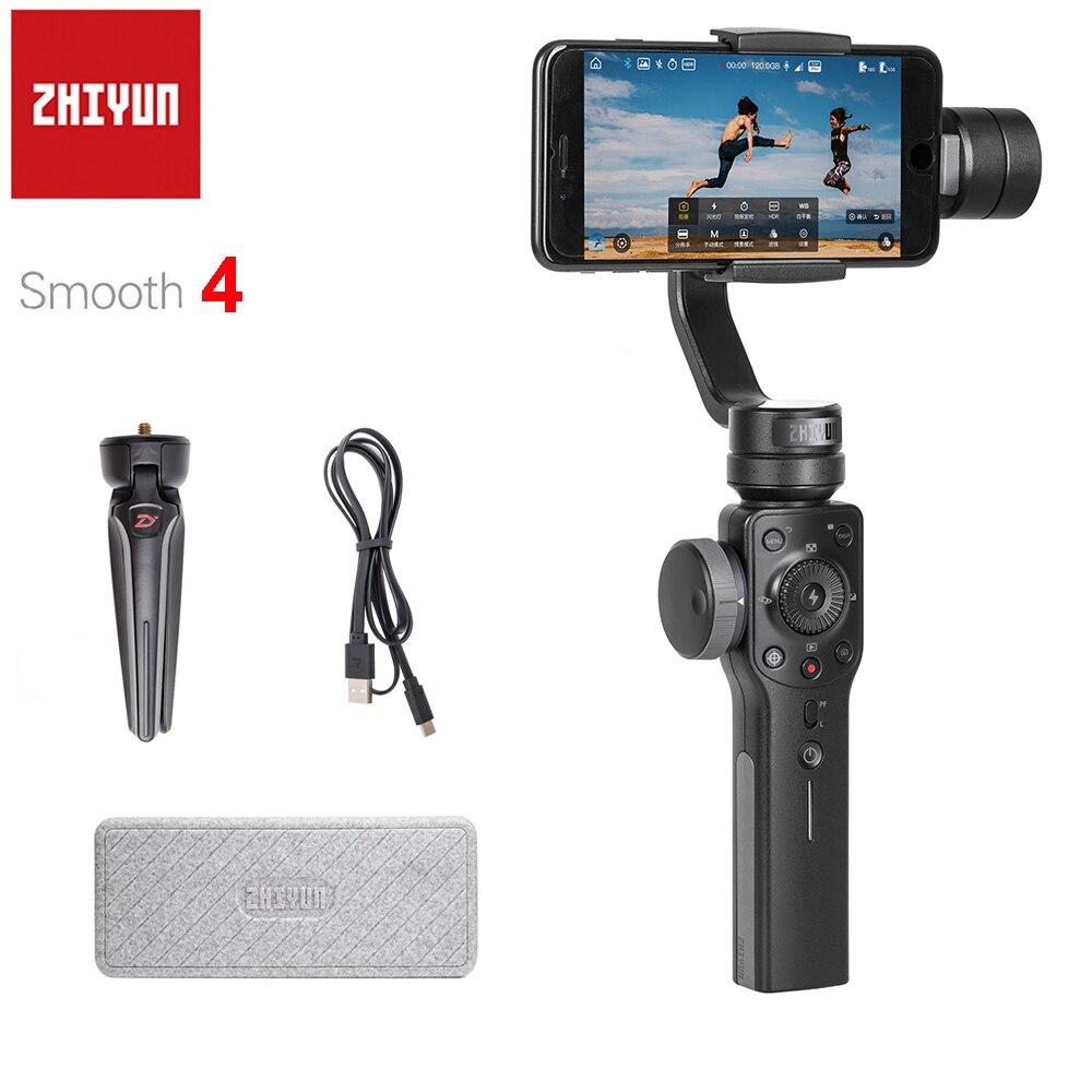 Zhiyun Lisse 4 Q 3-Axes De Poche Smartphone stabilisateur de cardan pour iPhone X 8 Plus 8 7 P 7 6 S Samsung S9 S8 S7 PK Feiyu Vimble 2