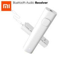 Orijinal Xiao mi mi Bluetooth ses Alıcısı Taşınabilir Kablolu Kablosuz Medya Adaptörü Için 3.5mm kulaklık kulaklık Hoparlör Araba AUX