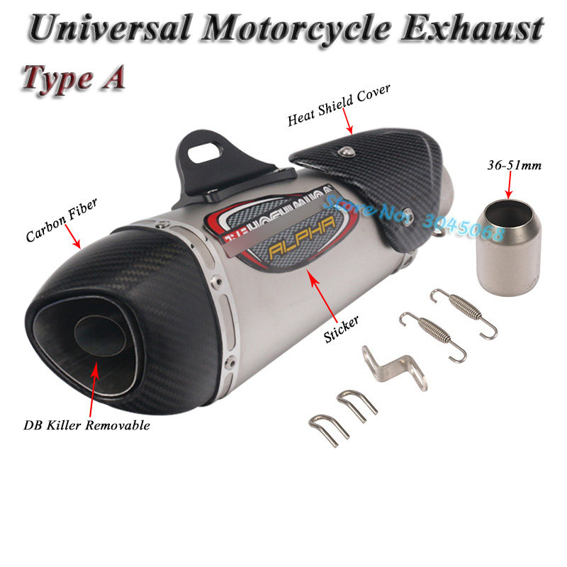 Image 3 - Universal Motorcycle Yoshimura Exhaust Pipe Escape Modified Carbon Muffler DB Killer Silencer For Ninja 400 GSXR600 K6 KTM R15-in Exhaust & Exhaust Systems from Automobiles & Motorcycles