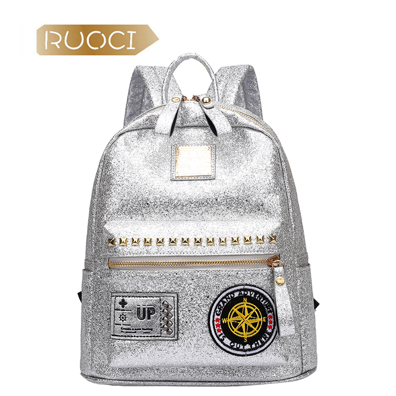 Women Bling Sequins Backpack PU Girls Fashion Shinning Glitter Travel Satchel School Bag Female Brand Mochila Backbag sac a dos