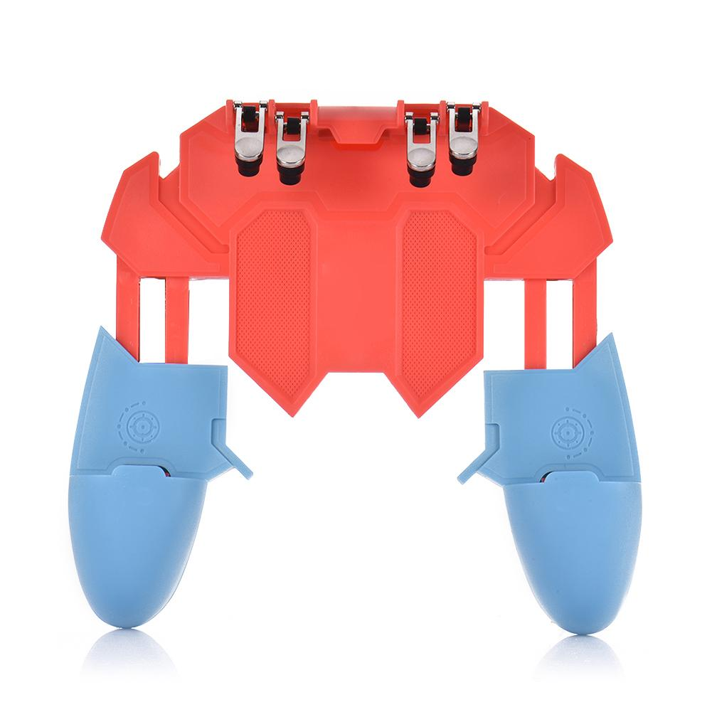 New AK65 PUGB Helper Mobile Phone Gamepad Handle Game Controller Six Finger All - In One GameButton
