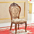 Best Selling european Brown fabric seat solid wood Dining Chair, 2-Pack shipping by DHL