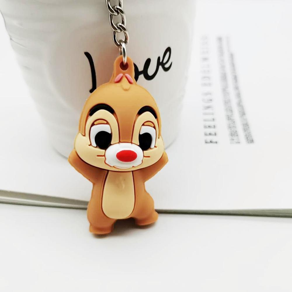 2019 Korea Hot Sale Painter Cat Keychain Creative Practical Small Gift Soft Plastic Cute Cat Squirrel Elephant Key Pendant Gift