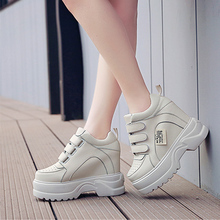 High Heels Ladies 12cm Casual Shoes Spring Fashion Lace-up Womens British Style Women Sneakers Autumn Platform