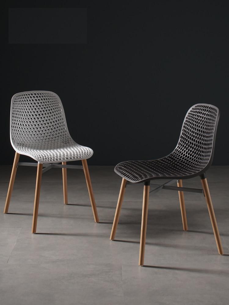 Denmark Design Chair with Plastic Backrest / Wood Legs of Beech with Metal FrameDenmark Design Chair with Plastic Backrest / Wood Legs of Beech with Metal Frame