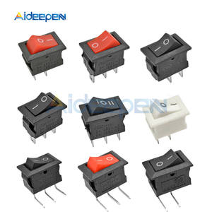 5PCS KCD11 2pin 3Pin ON-OFF 3A 250V 10*15MM Small Boat Rocker Switch 10x15 Snap-in Power Switch White Red and Black ON-OFF-ON