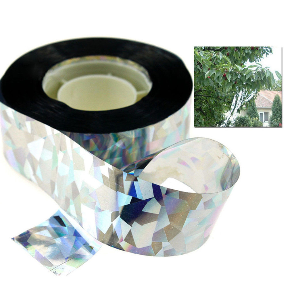 80 Meters Reflective Bird Scare Tape Flash Tape Sound Emitting Audible Repellent Deterrent For Garden Depot Holographic Flash
