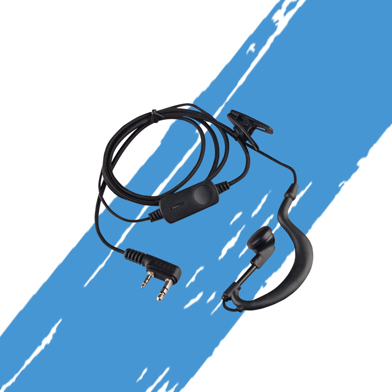 KSUN Walkie Talkie Headset B20 SR Head Earbuds Ear Hooks Two Way Radio Headset Nylon Braided Wire