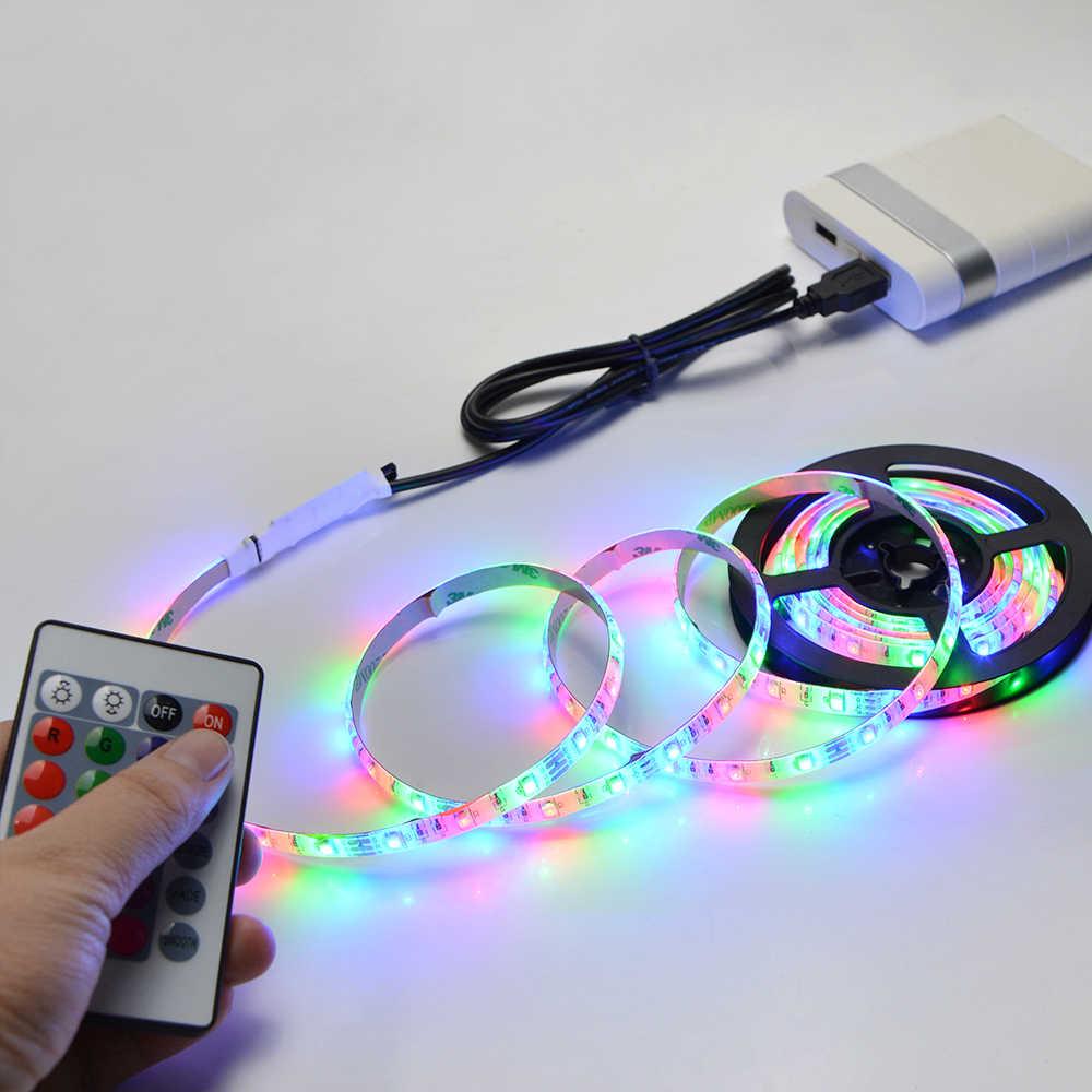 Fita de lâmpada led usb 2835smd dc5v, luz de led flexível 1m 2m 3m 4m 5m hdtv tv área de trabalho retroiluminação da tela