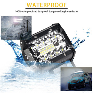 Image 4 - 2PCS 4 inch LED בר LED עבודה אור בר לנהיגה Offroad סירת רכב טרקטור משאית 4x4 SUV טרקטורונים 12V 24V מדורג 60W בפועל 15W