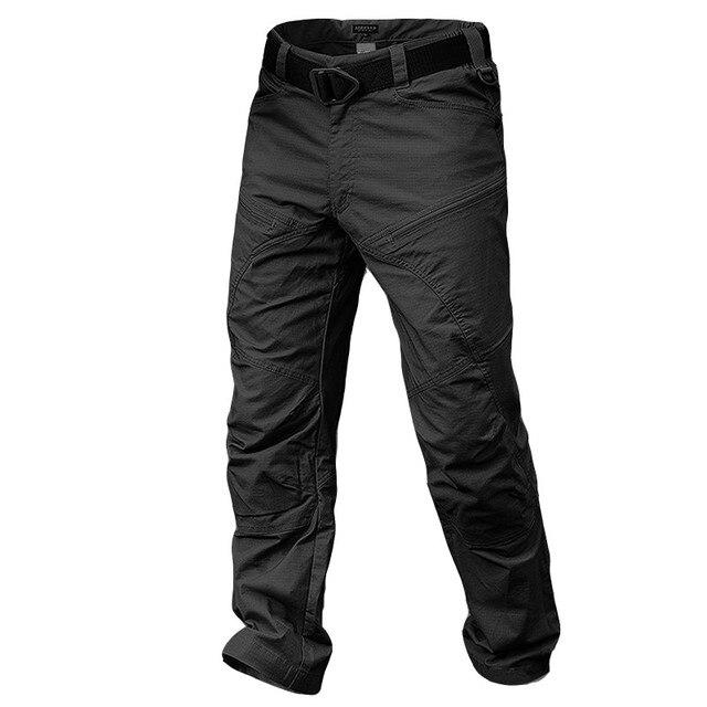 Calças de Algodão dos homens Calças Táticas Militares de Combate Urbano À Prova D' Água Rip-stop Calças Cargo SWAT Outono Casuais Calças Compridas S-2XL