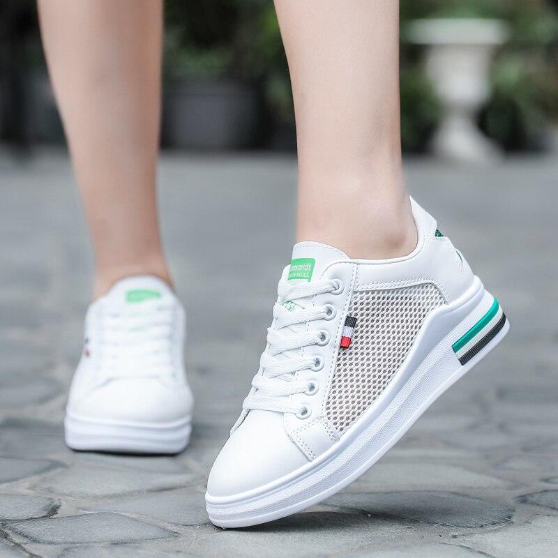 Chaussures de course légères de marque de Sport en plein air pour femmes chaussures de Sport à lacets respirant chaussures plates athlétiques confortables chaussures de Sport pour femmes - 5