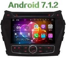 "HD 8"" Android 7.1 Quad Core 2GB RAM 4G WiFi Multimedia Car DVD Player Radio Stereo GPS Screen For Hyundai IX45 Santa FE 2013-16"