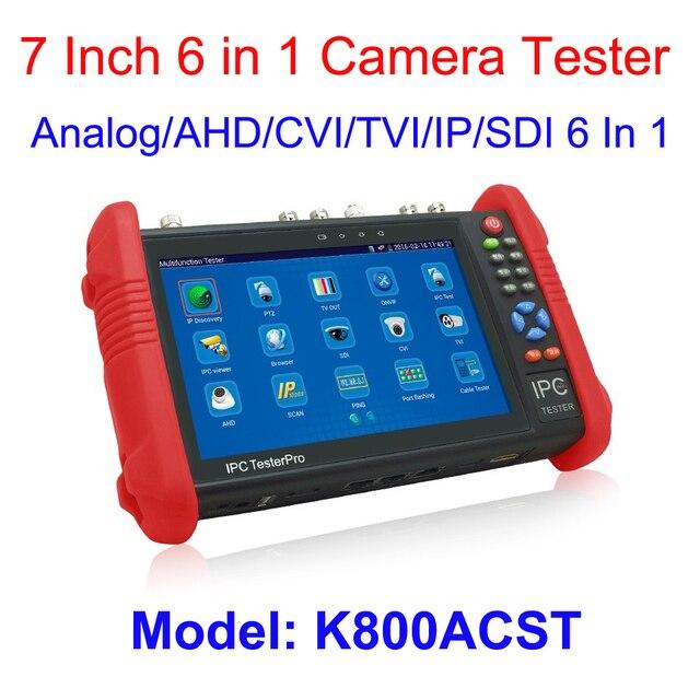 7Inch Touch Screen 1080P IP HD CCTV tester monitor TVI 3.0 test monitor 6 in one IP HDSDI TVI HDCVI AHD Analog Universal cctv