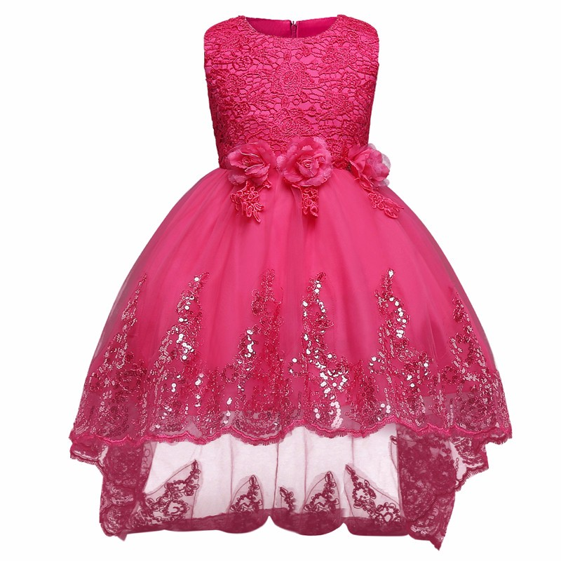 Baby Flower Girls Dresses For Wedding Pageant Dovetail Bridal Gown Teenagers Children Girl Kids Ball Party Wear 4-12Yrs new upper fuser roller for kyocera fs 2020d 3920dn 4020dn fs 3900dn 4000d upper fuser roller