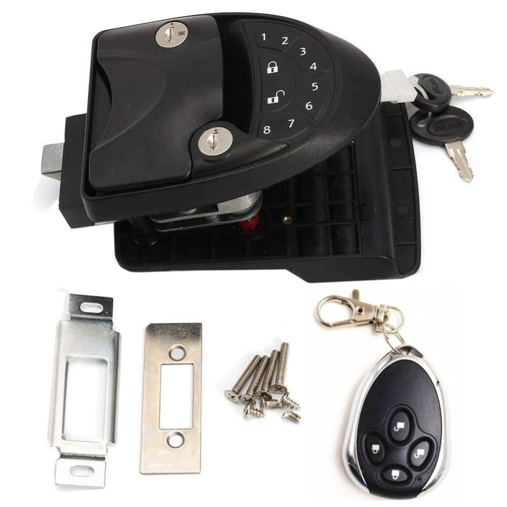 Noir RV sans clé porte serrure loquet poignée bouton pêne dormant nouveau camping-car remorque