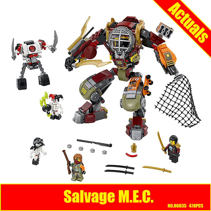 Lepin 06035 478pcs Salvage M.E.C Ninja Building Blocks Compatible 70592 Brick Toy