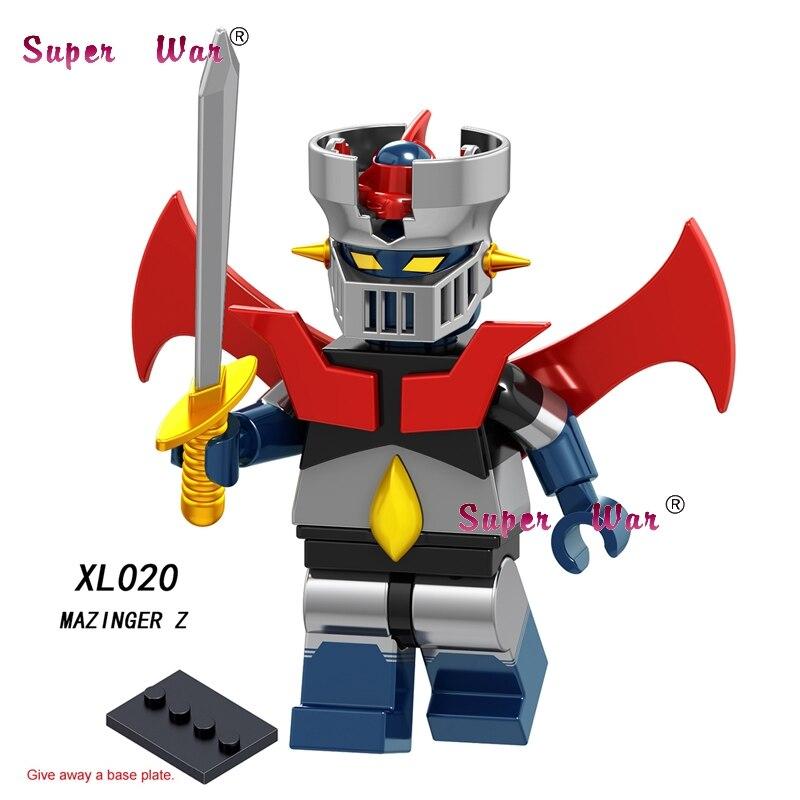 Single Cartoon Movie Super Heroes Iron Man 28 FX Mazinger Z MEGA MAN Yuanzu Rockman  Building Block Toys For Children