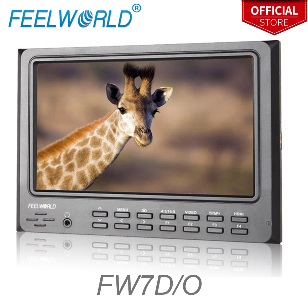 FEELWORLD FW7D/O 7 Inch HDMI Camera Field Monitor Professional Studio Top LCD Monitor with Peaking Focus for DSLR Sony NikonFEELWORLD FW7D/O 7 Inch HDMI Camera Field Monitor Professional Studio Top LCD Monitor with Peaking Focus for DSLR Sony Nikon