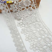 2 yards 182 cm Strip Lace Trims Ribbon Webbing for Sofa Cover Curtain Home Textiles Trimmings Embroidered Lace Fabric Light Grey