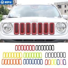 MOPAI autocollants de décoration pour calandre avant, inserts extérieurs de voiture, pour Jeep Renegade 2015 2016