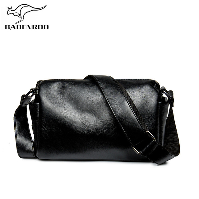 af7729bbc4 Badenroo Fashion Men's Leather Messenger Bag Simple Man Crossbody Bags  Casual Male Shoulder Barrel Bags Travel