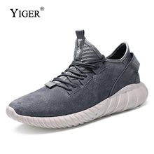 YIGER New Men Genuine Leather Sneakers Lace-up Casual shoes Male Leisure Breathable First layer pigskin men 0178