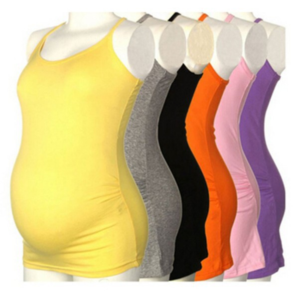 02ed2d2d4d4 Women s Strappy Vest Tank Tops Camisole Maternity Pregnant Casual T-shirt