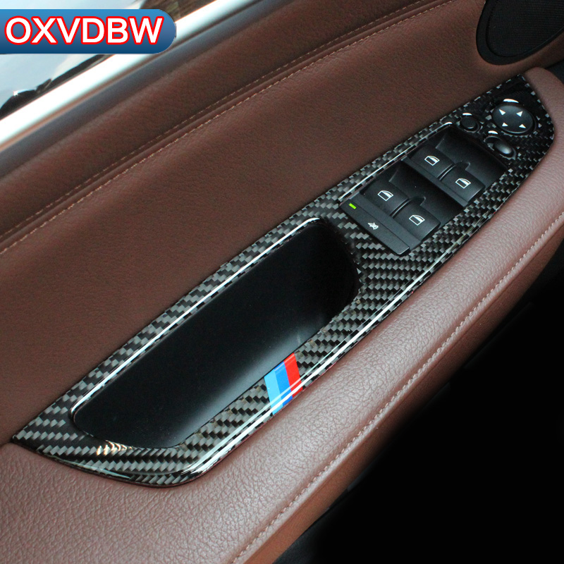 For bmw x5 e70 x6 e71 Accessories Carbon Fiber Window Lifter Control Frame Window Switch Decor Trim car Interior accessories