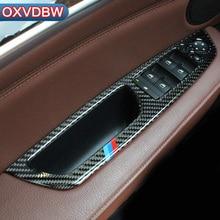 Для bmw x5 e70 x6 e71 аксессуаров из углеродного волокна стеклоподъемник Управление оконной рамы переключатель декор отделка салона Аксессуары