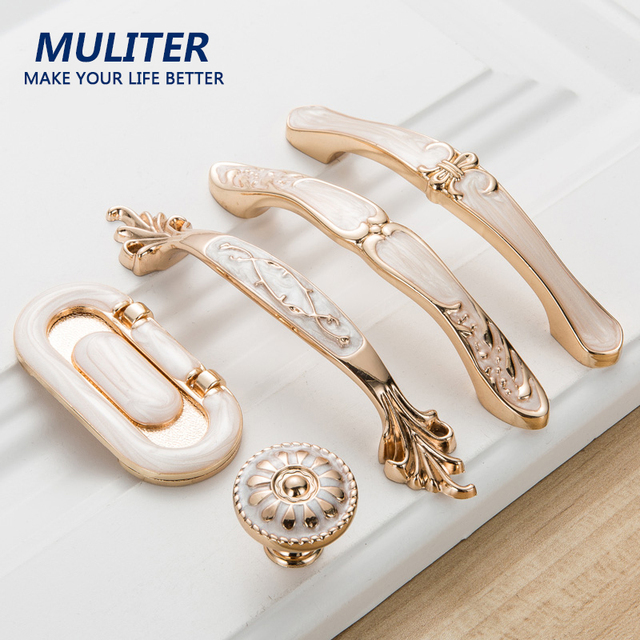 MULITER Nordic Style Elegant Series Simple Style Furniture Pull Chinese Door  Handles Knob Hardware Door Handle
