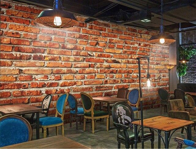 Moderne Wandbild Der Home Decor Benutzerdefinierte Jeder Größe Große Tapete  Für Wohnzimmer Retro Red Brick Wall