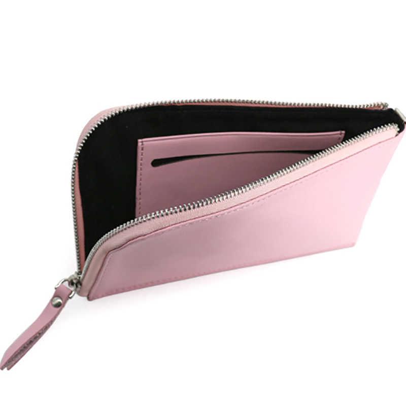 AETOO głowy wołowej torba na telefon komórkowy kobiet SKÓRZANY PORTFEL człowiek cienki szyi paszport torba długi portfel