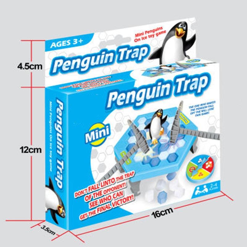 Engraçado pinguim armadilha interativo o pai-filho mesa de entretenimento indoor jogo de tabuleiro quebra de gelo salvar brinquedos crianças presentes #240349