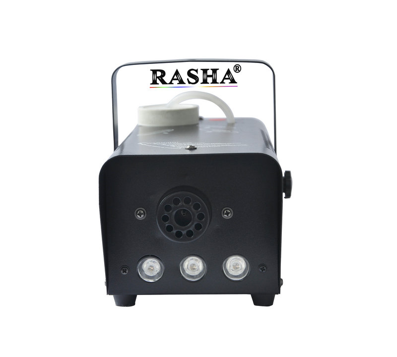 Hot Sale Rasha Wireless control 3*3W RGB Colorful 400W LED Fog Machine/LED Smoke Machine Stage Special Effects For Event Party 4x lot dropshiping 400w mini smoke machine fog machine special effects for stage light party events 90 240v