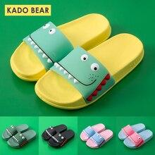 Детские тапочки с динозавром из мультфильма; домашние тапочки для маленьких мальчиков; забавная садовая обувь на плоской подошве; пляжные шлепанцы для девочек; уличные сандалии