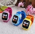 Alta qualidade crianças localização rastreador gps + wi-fi smart watch para as crianças com gps e telefone