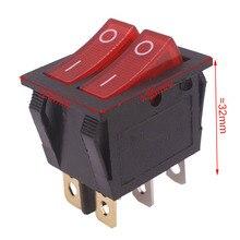 2 шт. 30*25*32 мм кулисный переключатель 6 штекеров двухрядный переключатель 15A 250 В AC/20A 125 В AC промышленные электрические аксессуары